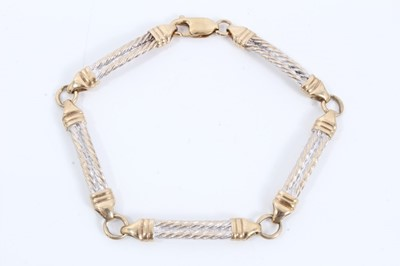 Lot 2 - 9ct yellow and white gold bracelet