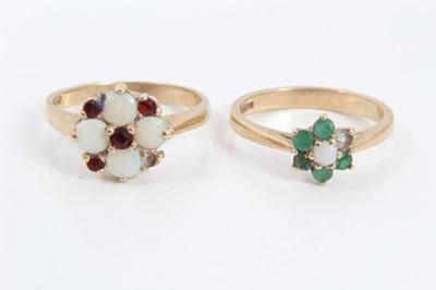 Lot 8 - Two 9ct gold gem set rings