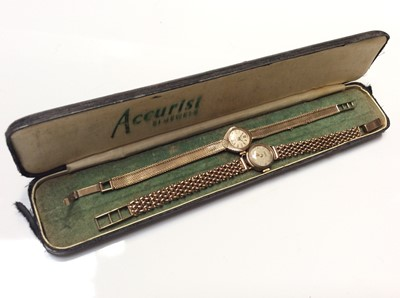 Lot 9 - Two ladies' 9ct gold vintage wristwatches