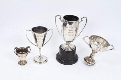 Lot 27 - Four silver trophies