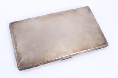 Lot 18 - Silver cigarette case