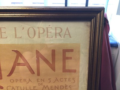 Lot 23 - After Albert Maignan, period lithographic print, Opera poster for Ariane by Massenet