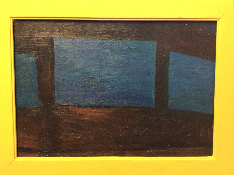 Lot 19 - Frank Beanland (1936-2019) oil on board, three windows