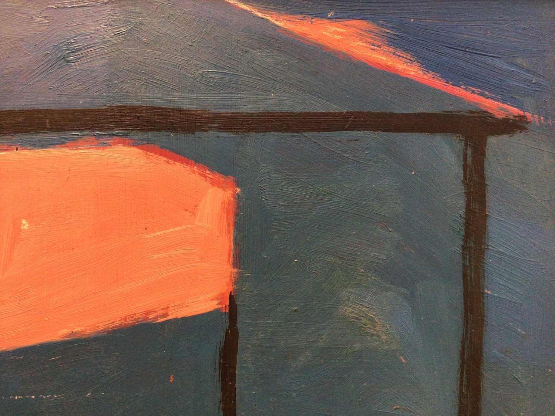 Lot 20 - Frank Beanland (1936-2019) oil on board, beach hunt sketch