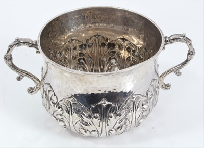 Lot 52 - Late Victorian Britannia silver porringer