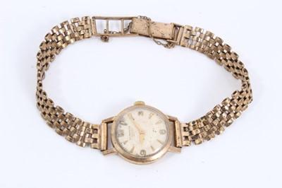 Lot 53 - Longines 9ct gold ladies wristwatch on 9ct gold bracelet