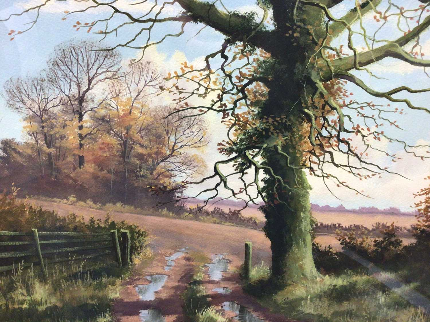 Lot 26 - Kevin Curtis (1958-2009) watercolour, December Day, Foxall, together with an H A Stanley watercolour