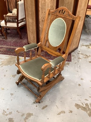 Lot 914 - Late Victorian rocking chair