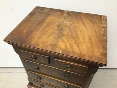 Lot 15 - Georgian style minature mahogany chest on chest, 38cm wide x 30cm deep x 77cm high