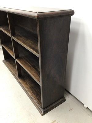 Lot 20 - Oak low bookcase, 120cm wide x 28cm deep x 82cm high