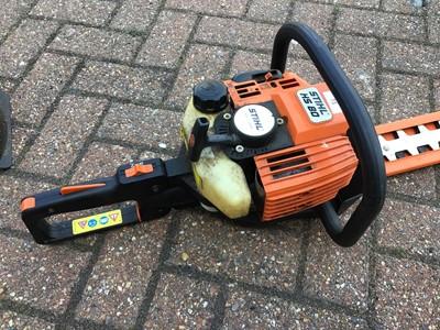 Lot 73 - Stihl HS 80 petrol hedge strimmer and Ryobi 310RT petrol strimmer