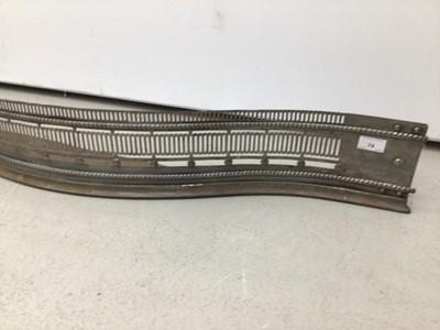 Lot 74 - Victorian steel serpentine fronted fendor 115cm wide