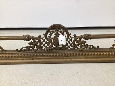 Lot 75 - Victorian brass fender 136cm wide