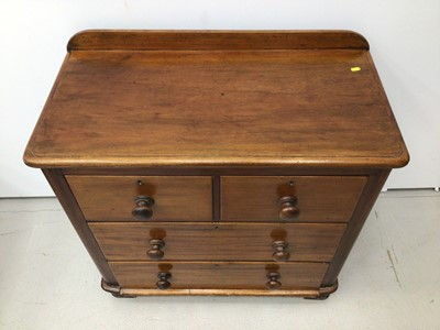 Lot 79 - Victorian mahogany chest of two short and two long drawers 89cm wide x 46cm deep x 90 cm high