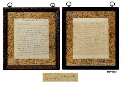 Lot 68 - Vice-Admiral Lord Horatio Nelson K.B. - a rare handwritten letter dated June 12th 1801