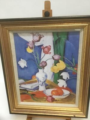 Lot 178 - After Samuel Peploe print tulips
