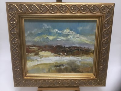 Lot 162 - Polish School, oil on canvas, abstract coastal scene