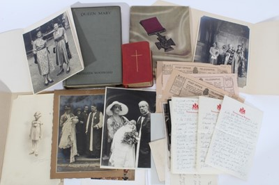 Lot 27 - The Rt.Reverend Bertram Pollock KCVO, DD- The Bishop of Norwich and former Headmaster of Wellington College, collection of Royal correspondence and ephemera including a letter from Sir Deighton Pro...