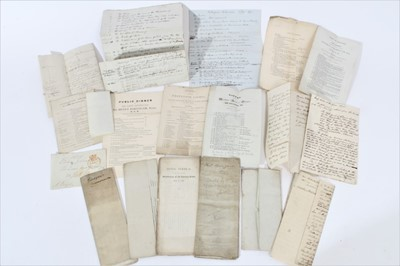 Lot 28 - Of Glasgow interest- A unique collection of late Georgian and Victorian lists of Toasts given at various dinners for The Corporation of Glasgow , some printed and some hand written with notes inclu...