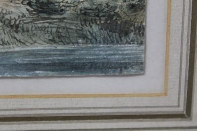 Lot 44 - Jospeh Louis Hippolyte Bellange (1800-1866) watercolour - Wayside Conversation, signed, 19cm x 21.5cm, in glazed gilt frame  Provenance: Walker Galleries, New Bond Street. Sotheby's, August 2004