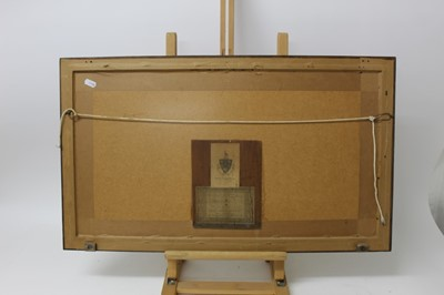 Lot 45 - William Lionel Wyllie (1851-1931) signed artist proof etching - Bruinisse, Holland, 18cm x 48cm, in glazed oak frame  Provenance: T. Richardson & Co, Piccadilly