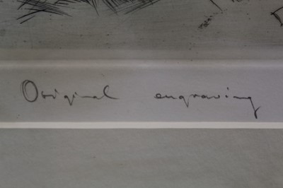 Lot 32 - Carl Josef Bauer (1897-1989) pair of signed engravings