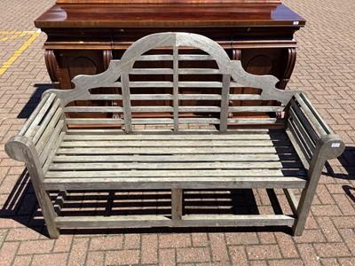 Lot 152 - Two teak Lutyens benches