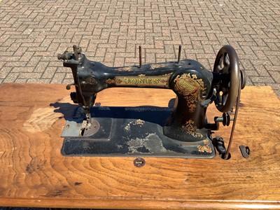 Lot 167 - Jones treadle sewing machine
