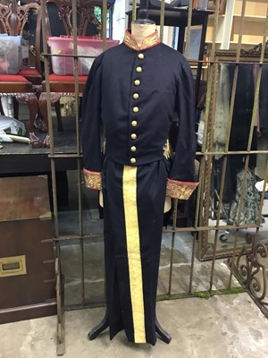 Lot 72 - The Rt Hon. The Earl of Listowel K.P.,J.P.,D.L., fine Victorian Court uniform by Henry Poole with gold and red bullion collar and cuffs, trousers with gold lace , breeches and sword belt contained...