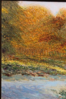 Lot 35 - Peter Jander (b.1954) oil on board - Extensive Landscape, signed, 74cm x 148cm, framed