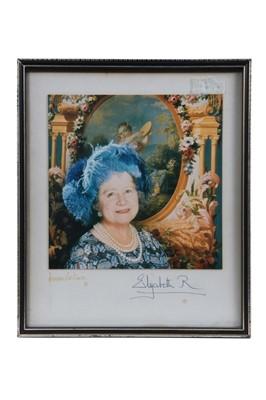 Lot 79 - H.M.Queen Elizabeth The Queen Mother signed portrait photograph