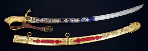 Lot 76-Fine early 19th century Irish presentation sword...