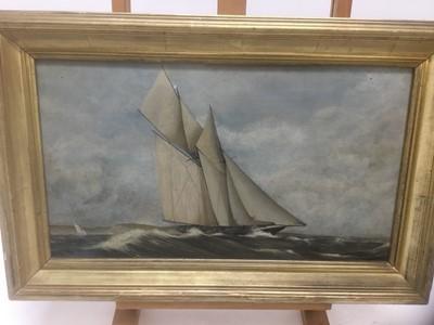 Lot 63 - John Holden (20th century), oil on board, marine scene, gilt frame