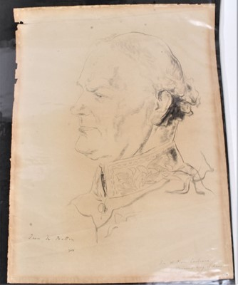 Lot 96 - Jean de Botton (1898-1978) French/American, a folio of ten portrait studies, to coincide with the 1937 Coronation. Depicting Princess Mary, Princess Marina, Prince George, Prince Henry, Sir William...