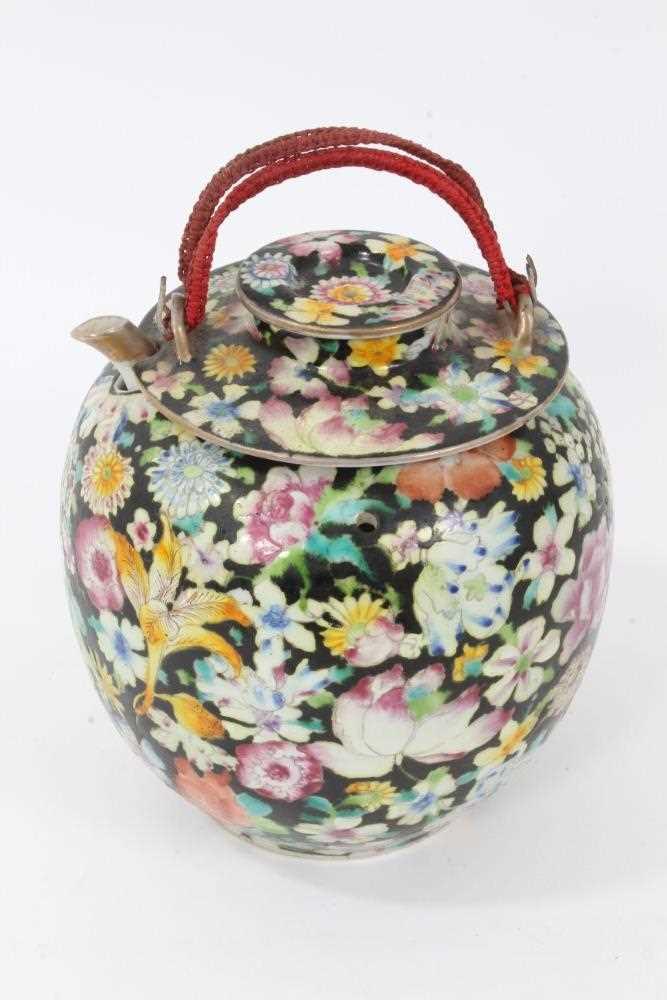 Lot 7 - Chinese famille noir teapot