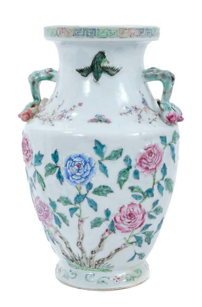 Lot 8 - 19th century Chinese polychrome vase