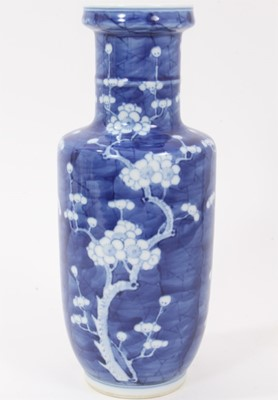 Lot 5 - 19th/20th century Chinese prunus blossom rouleau vase