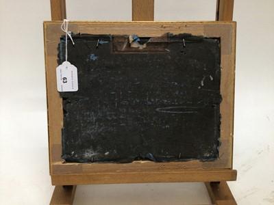 Lot 63 - English School, oil on panel, Kittens in a basket, in gilt frame. 20 x 25cm