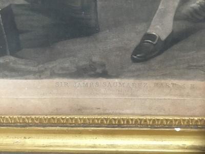 Lot 9 - 19th century mezzotint in period gilt frame