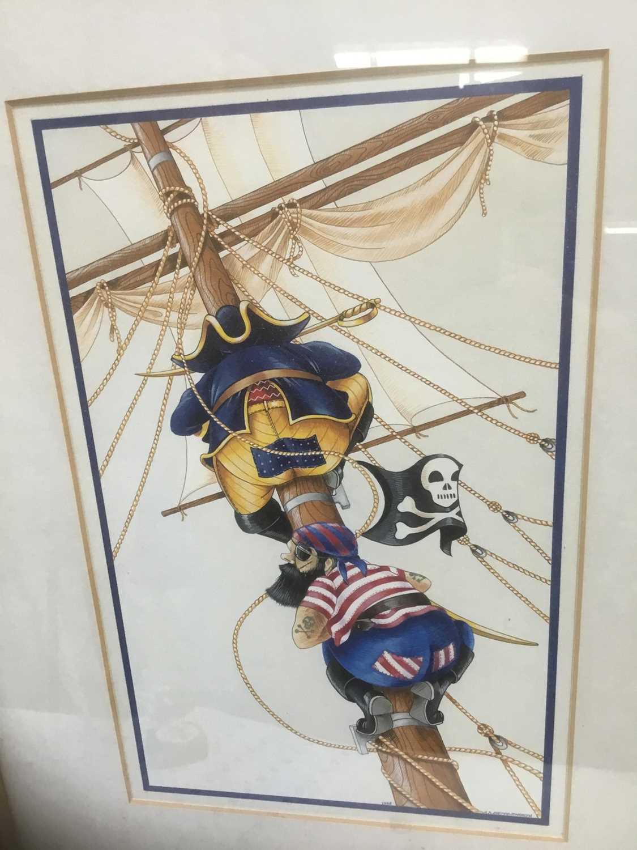 Lot 5 - Watercolour - Pirates