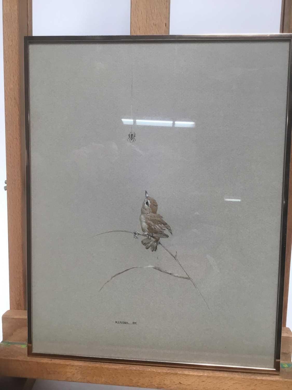 Lot 4 - Morris J Pedger (b. 1955) watercolour - Sparrow