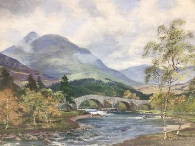 Lot 146 - George Melvin Rennie oil on canvas - Scottish River, signed, in glazed frame