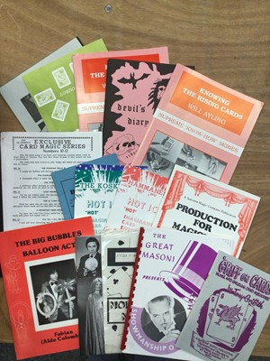 Lot 1332 - One box of assorted magic pamphlets, booklets and related ephemera
