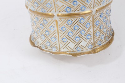 Lot 57 - 18th/19th century porcelain vase with lamp fitting