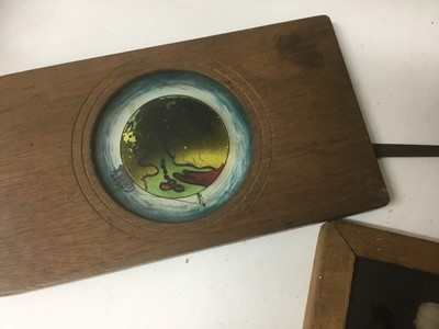 Lot 2372 - Group of magic lantern slides, some partially incomplete, including 6 large examples, numerous smaller slides