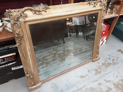 Lot 904 - 19th century gilt gesso overmantel wall mirror