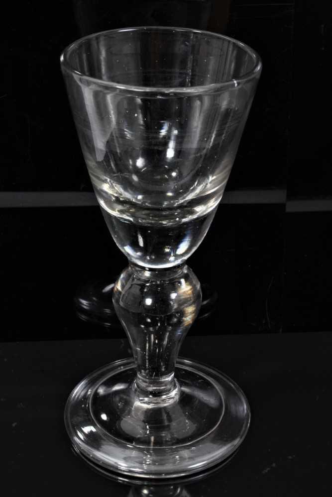 159 - Heavy baluster glass