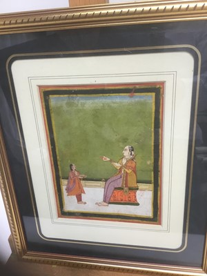 Lot 183 - 19th century Indian miniature gouache on paper, together with another Indian miniature