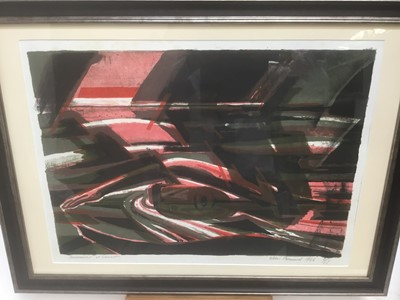 Lot 184 - Allin Braund (1915-2004) print 'Swimmer at sunset' 1966, numbered 6/15