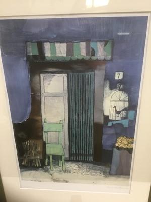 Lot 190 - Rosina Wachrmeister (b. 1939) print -  Doorway with chair